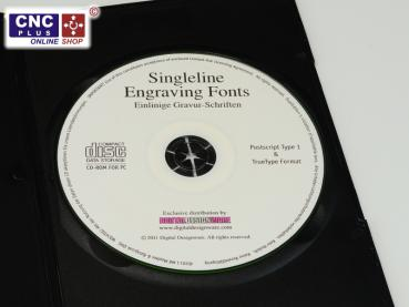 17 singleline engraving fonts on a cd special engraving for Cnc lettering software