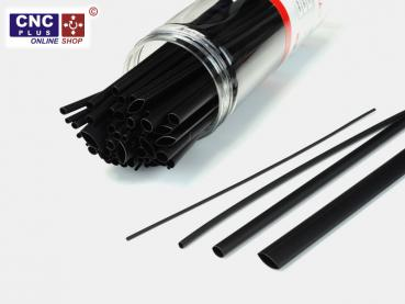Polyolefins 2:1 Cable Heat-Shrink tubing, 200mm Black Assortment 80pcs.